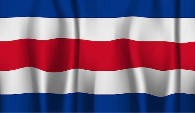 Ondeando la bandera de costa rica. ondeando la bandera de costa rica