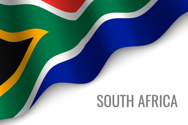 Ondeando la bandera de douth africa
