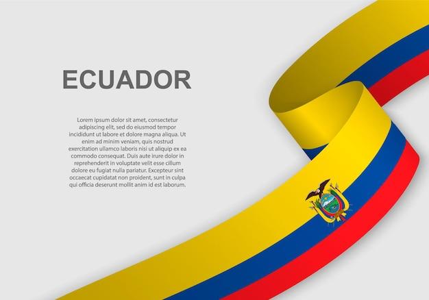 Ondeando la bandera de ecuador.