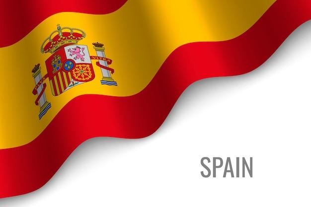 Ondeando la bandera de españa
