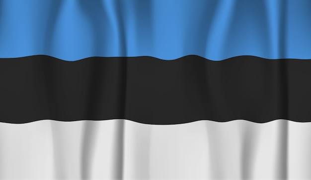 Ondeando la bandera de estonia. ondeando la bandera de estonia