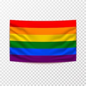Ondeando la bandera lgbt