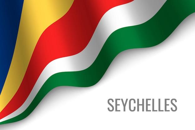 Ondeando la bandera de seychelles