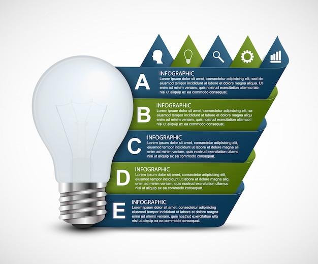 Opciones abstractas infografía plantilla para presentaciones.