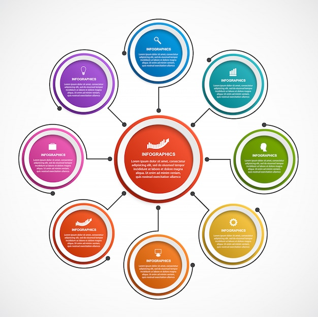 Opciones abstractas infografía plantilla.