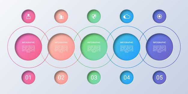 Opciones coloridas infografía de negocios
