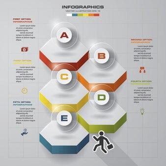 Opciones de plantilla de diseño de infografía 5