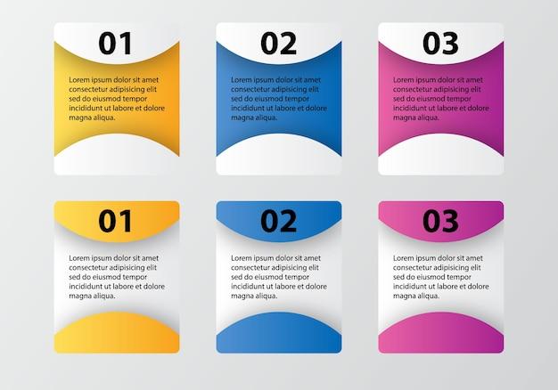Opciones de infografía elemento de diseño