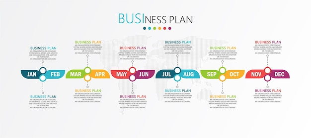 Opciones de planificador mensual de infografías