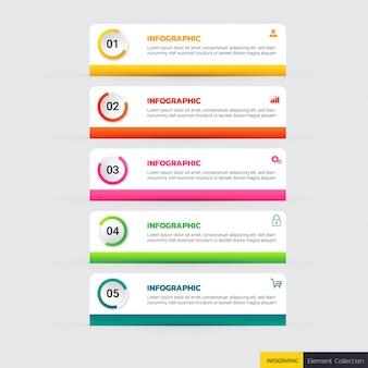 Opciones de plantilla de infografía