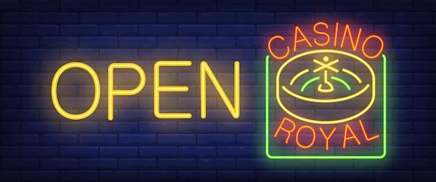 Open casino royal sign