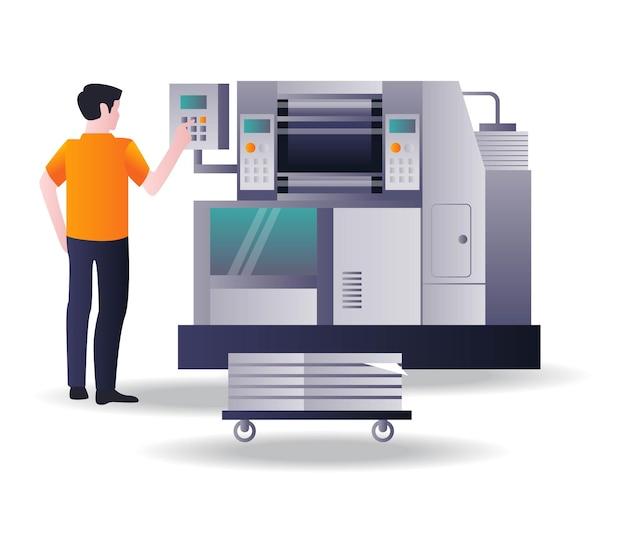 Operador de máquina de impresión offset