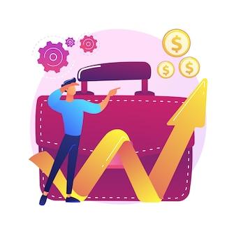 Oportunidades comerciales, oportunidades. ambiciones profesionales, planes de desarrollo empresarial, búsqueda de innovación. emprendedor visionario anticipando nuevas tendencias