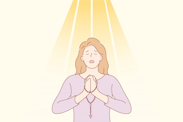 Oración, dios, religión, perdón, cristianismo, solicitud, concepto de fe.