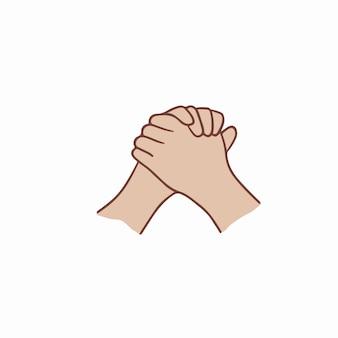 Orar mano símbolo ilustración vectorial