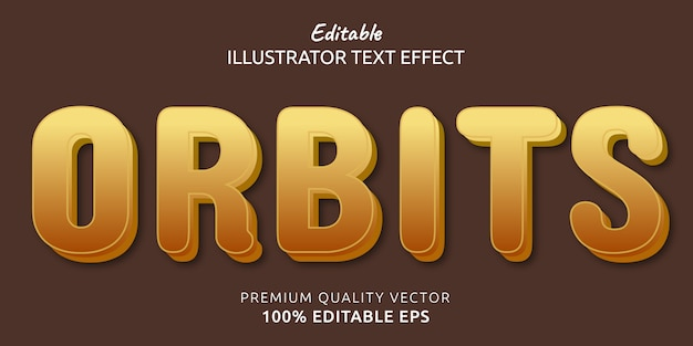 Órbitas efecto de estilo de texto editable