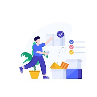 Ordenar vector de ilustración de diseño conceptual completo