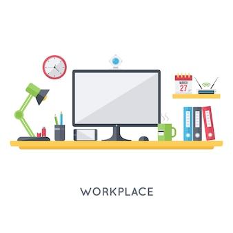 Organización del espacio de trabajo personal.