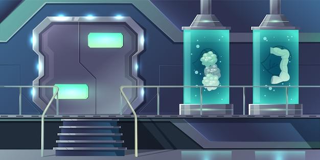 órganos internos humanos clonación concepto de dibujos animados. páncreas, glándulas tiroides, intestinos