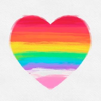 Orgullo corazón acuarela