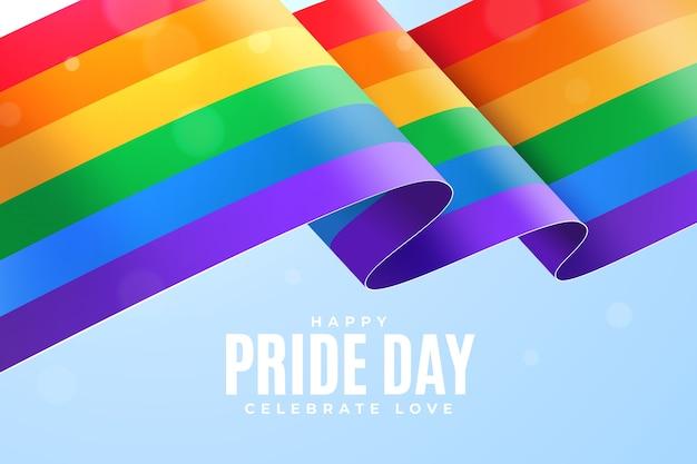 Orgullo día bandera cinta papel pintado