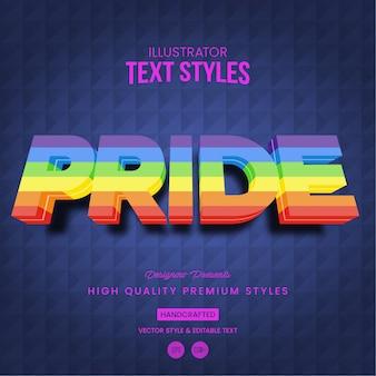 Orgullo estilo de texto