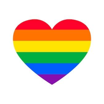 Orgullo gay plano en forma de corazón