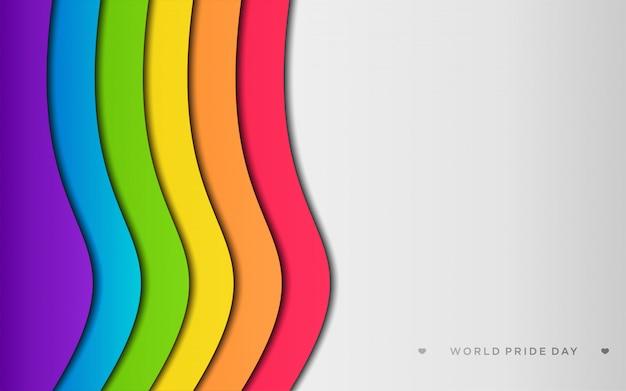 Orgullo lgbt colorido con copyspace en estilo de arte de papel