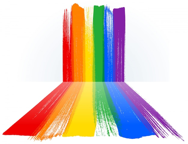 Orgullo mes lgbt con fondo de pintura de arco iris.