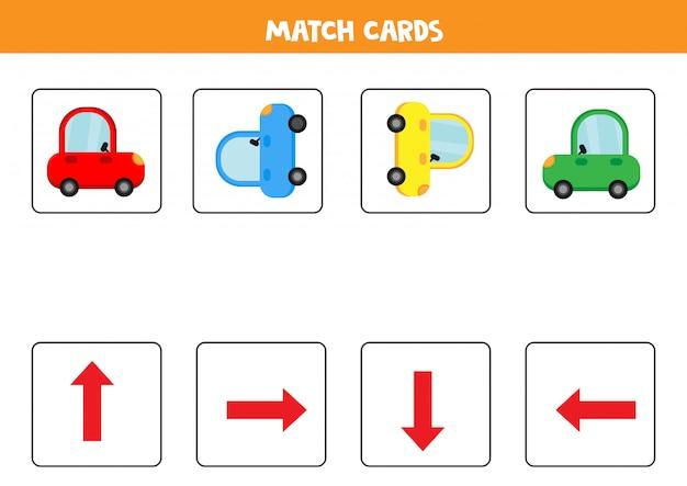 Orientación de tarjetas de juego para niños.