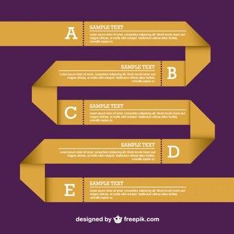 Origami de diseño vectorial infografía