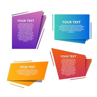 Origami de plantillas de texto de estilo para banner