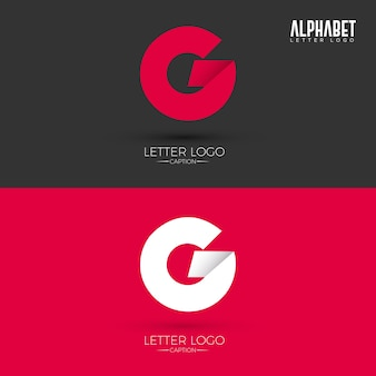 Origami style g letter logo