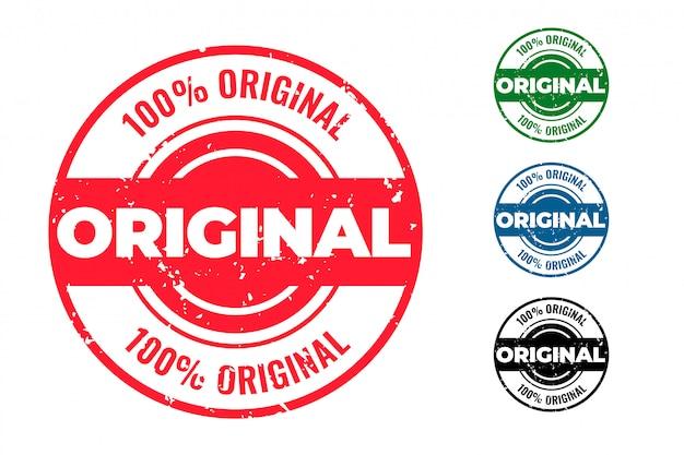 Original conjunto de sellos de goma circular de cuatro