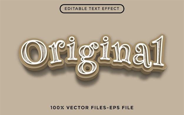 Original - efecto de texto editable de illustrator vector premium