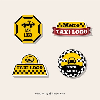 Originales logotipos para compañías de taxis