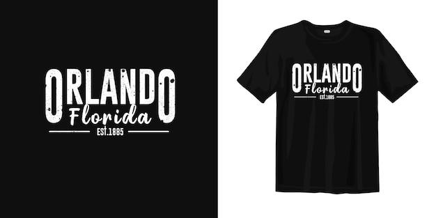 Orlando florida de américa. diseño de camiseta estilo urbano desgaste