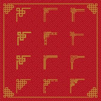 Ornamento chino de la frontera