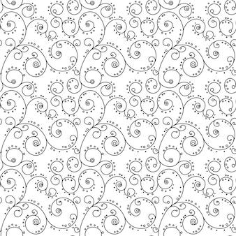 Ornamento de zentangle de patrones sin fisuras página de libro de colorear