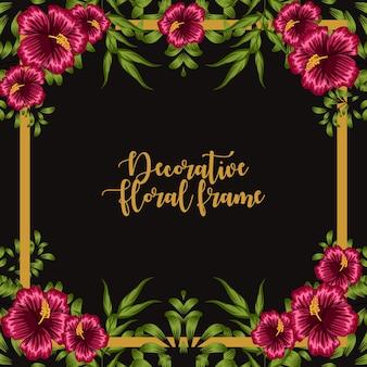 Ornamento decorativo del marco floral