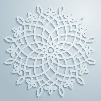 Ornamento decorativo de vector círculo patrón árabe
