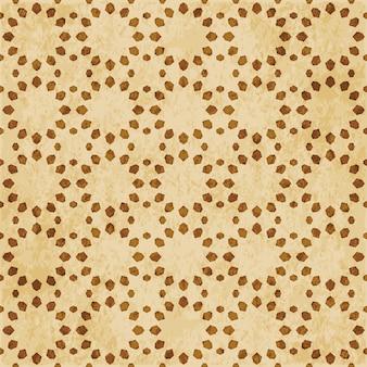 Ornamento del estilo oriental del fondo del modelo de la geometría inconsútil del islam marrón retro