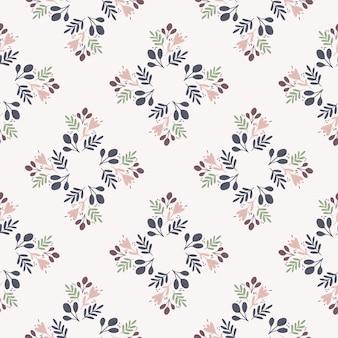Ornamento floral sin fisuras patrón dibujado a mano. doodle estampado botánico de contorno en tonos azules y claros.