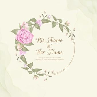 Ornamento floral de la invitación de la boda