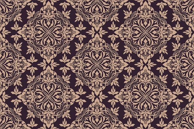 Ornamento floral de patrones sin fisuras