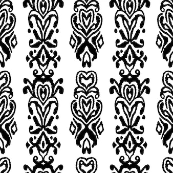 Ornamento de folklore sin fisuras patrón