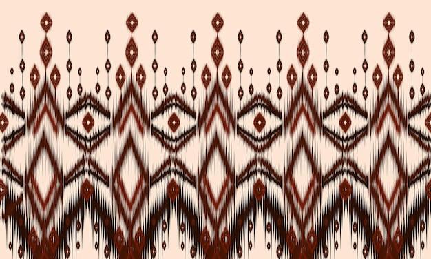 Ornamento del folklore geométrico ikat con diamantes.diseño de fondo, alfombra, papel tapiz, ropa, envoltura, batik, tela, ilustración vectorial.estilo de bordado.