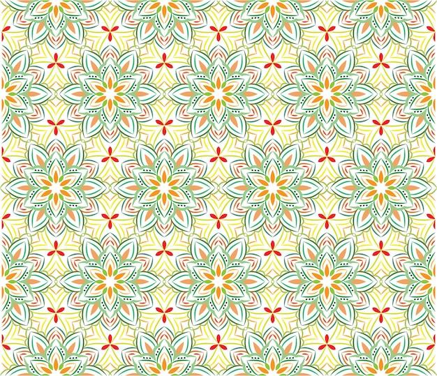 Ornamento de fondo abstracto, patrones sin fisuras con flores