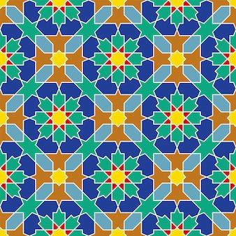 Ornamento geométrico árabe sin fisuras basado en el arte árabe tradicional