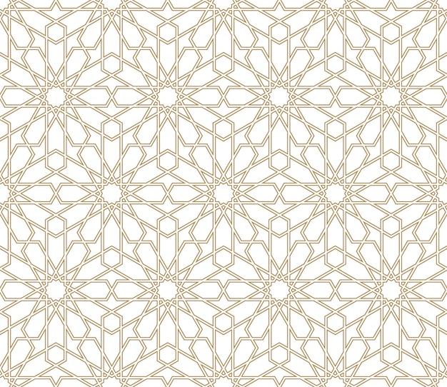 Ornamento geométrico árabe transparente en color marrón.